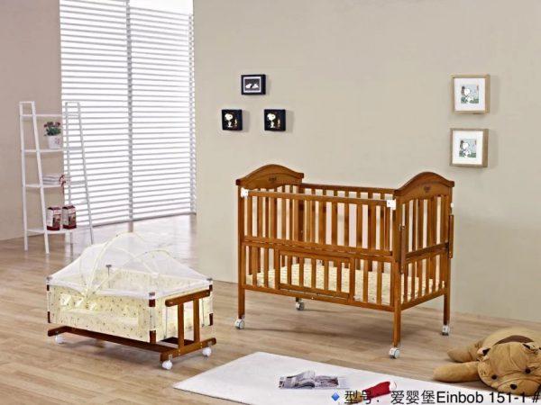 SamuelsDirect Mahogany Baby Cot Bed/ Baby Crib-151-1