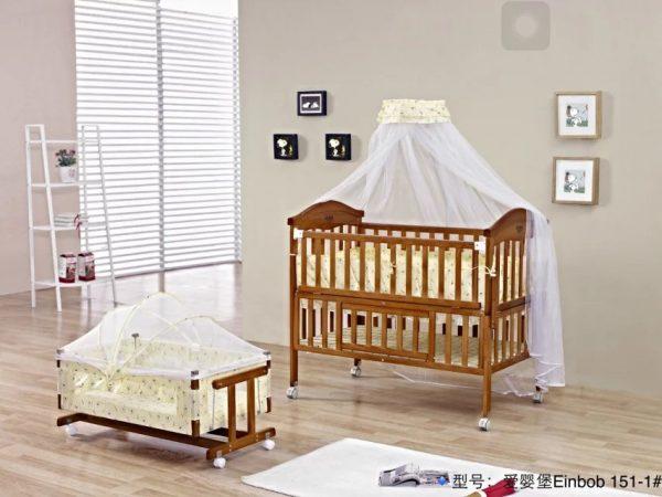 SamuelsDirect Mahogany Baby Cot Bed/ Baby Crib-151-1.1